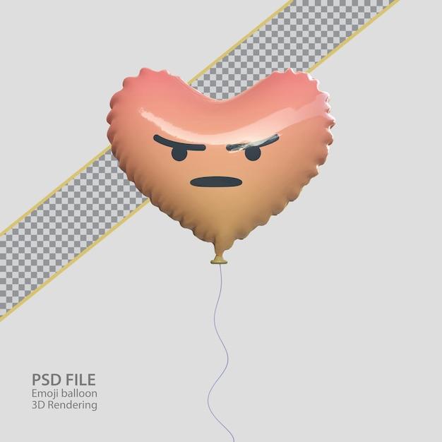 3d facebook злой смайлик с воздушным шаром