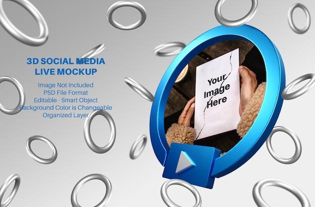 3d макет аватара facebook в социальных сетях