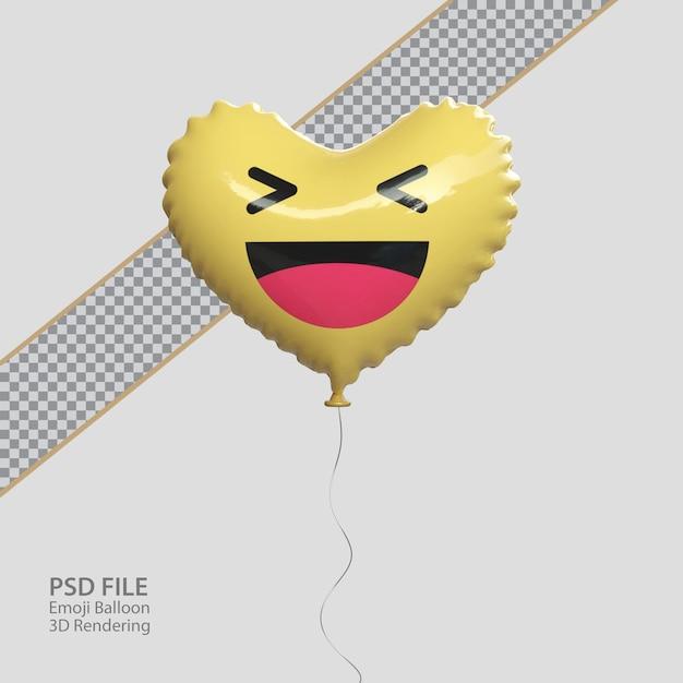 3d facebook haha emoji в стиле воздушного шара