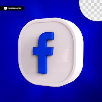 分離された3dfacebookアイコン