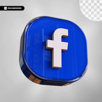 3d facebook icon isolated