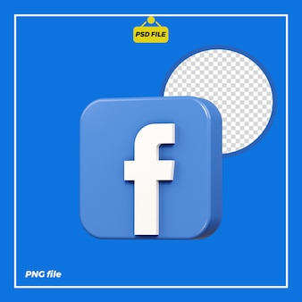 Значок 3d facebook