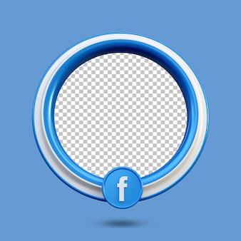 3d facebook 라이브 스트리밍 소셜 미디어 아이콘