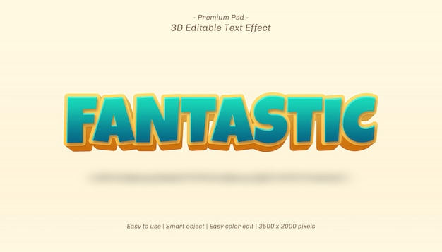 3d фантастический редактируемый текстовый эффект
