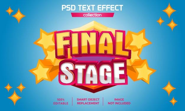 Эффект текста звезды на заключительном этапе 3d