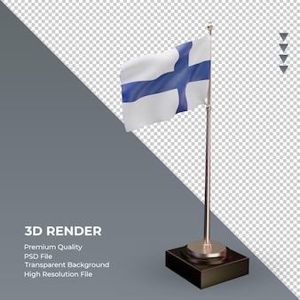 3d 플래그 핀란드 렌더링 왼쪽 보기