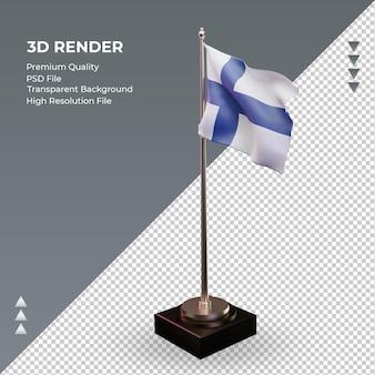 3d 플래그 핀란드 렌더링 오른쪽 보기