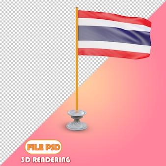 タイの3d旗