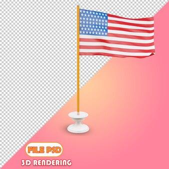 アメリカ合衆国の3d旗