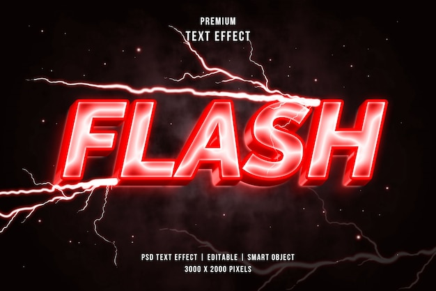 3d flash style text effect