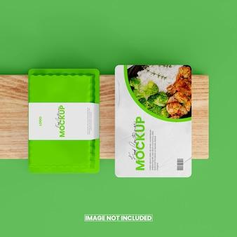 3d-макет коробки для еды из фольги