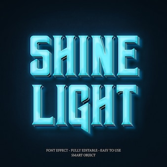 3d font effect for make neon effect with editable layers to use