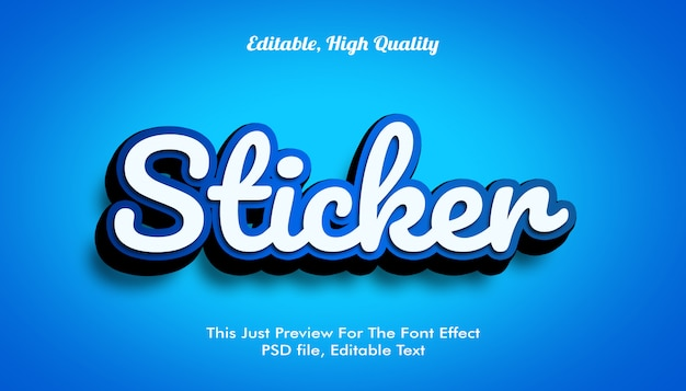 3d font effect mockup