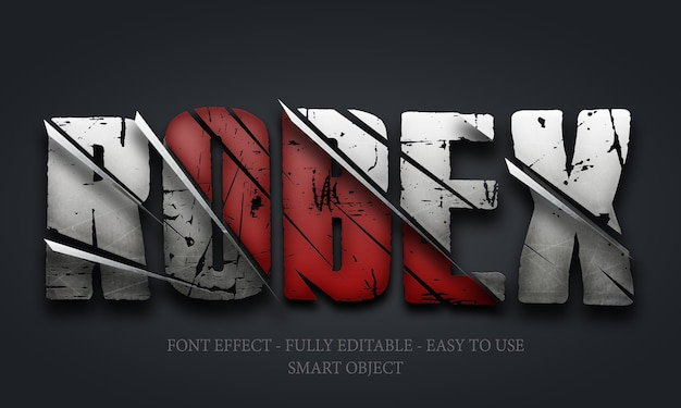 3d font effect steel clipped sword template