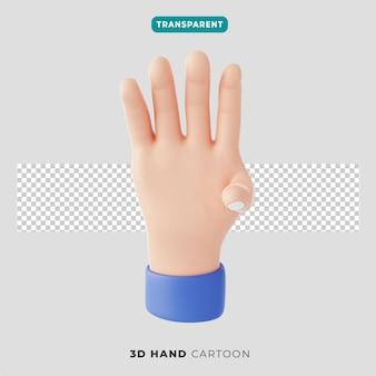 3차원, 네 손가락 제스처, 아이콘