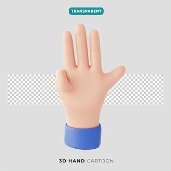 Значок жест 3d четыре пальца