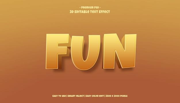 3d fun редактируемый текстовый эффект