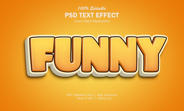 3d funny game logo text effect