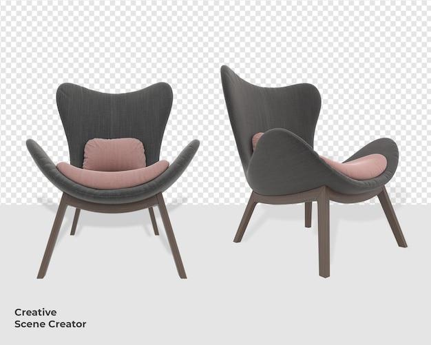 3d мебель для украшения дивана с создателем сцены в современном стиле
