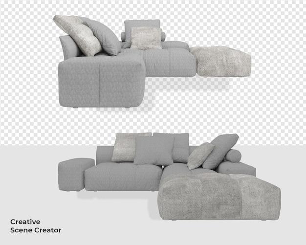3d мебель для дивана с дизайном в современном стиле
