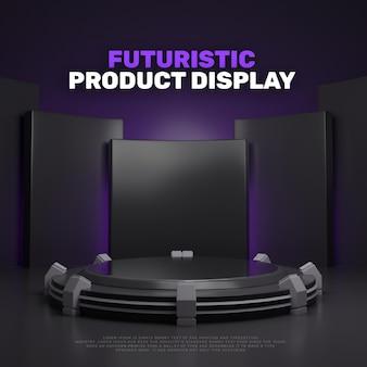 Display del prodotto sul podio futuristico 3d