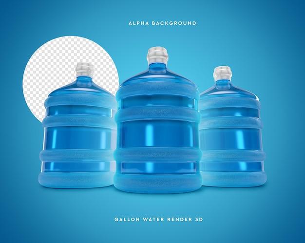 3д галлон воды в 3d рендеринге