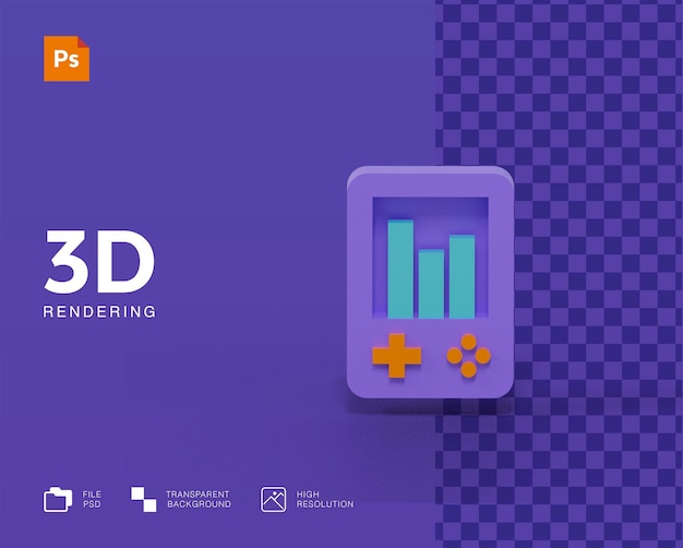 3d game icon