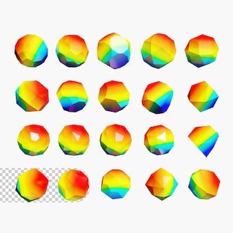 3d geometric shapes psd premium
