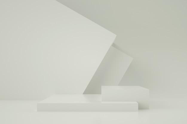 3d геометрическая сцена для размещения продукта