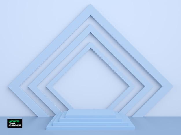 제품 배치를위한 3d 기하학적 스테이지 또는 장면
