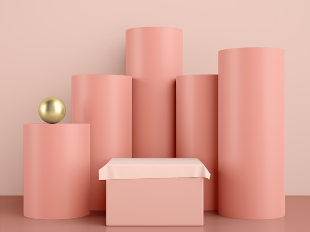 3d geometric stage for product placement