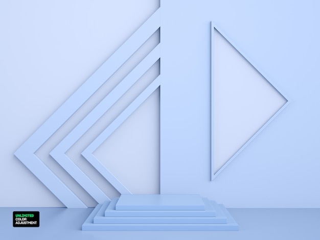 3d geometric stage or scene for product placement