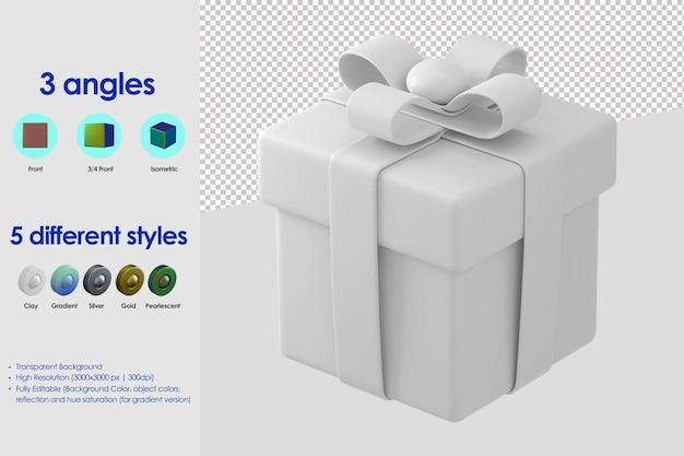 Значок 3d подарочная коробка