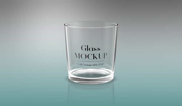 3d glass mockup design isolated