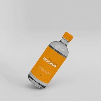 3dガラスシロップボトルモックアップ
