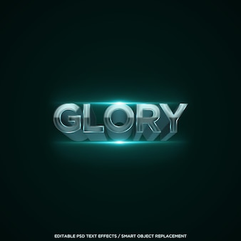3d glory text effect