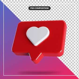 3d glossy like instagram icon isolated