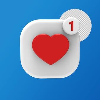 고립 된 instagram 아이콘 같은 3d 광택