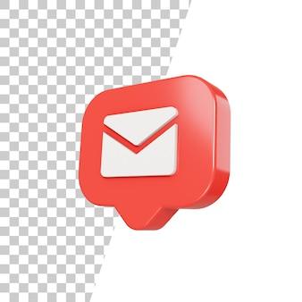 3d глянцевый значок почты дизайн