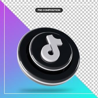 3d光沢のあるtiktokロゴ分離デザイン