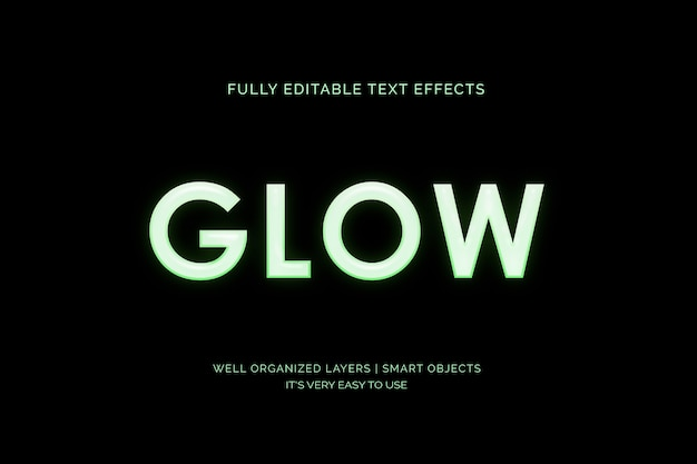 3d glow text effect