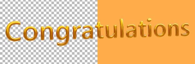 3d золотые поздравления рендеринга изображений