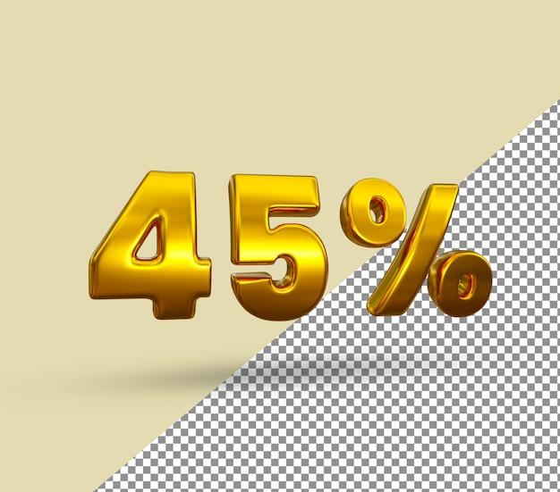 3d золотой номер 45 процентов от