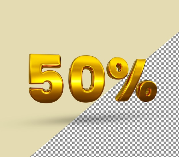 3d золотой номер 50 процентов от