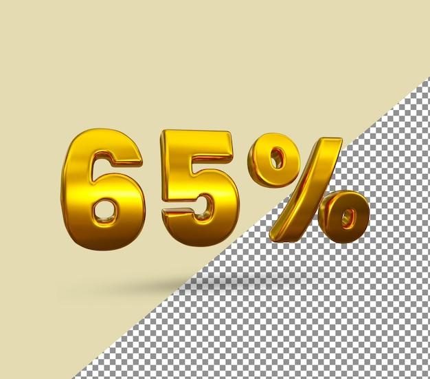 3d золотой номер 65 процентов от
