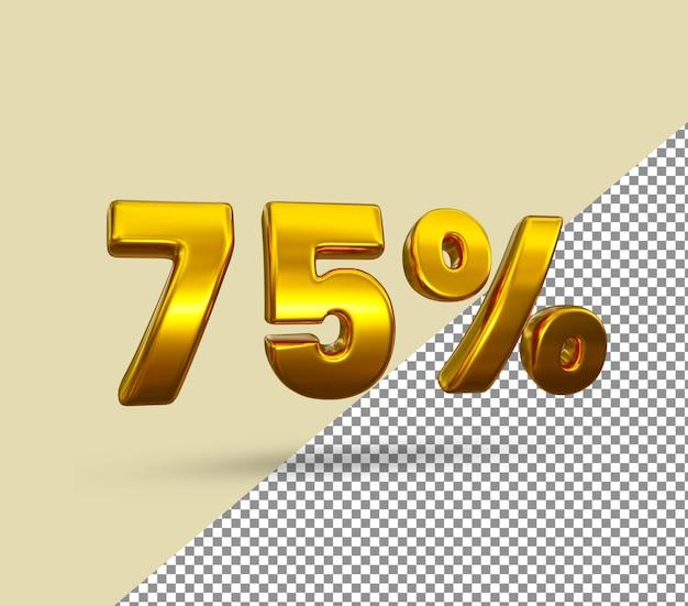 3d золотой номер 75 процентов от