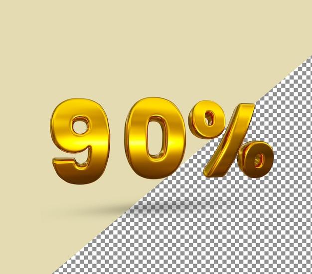 3d золотой номер 90 процентов от