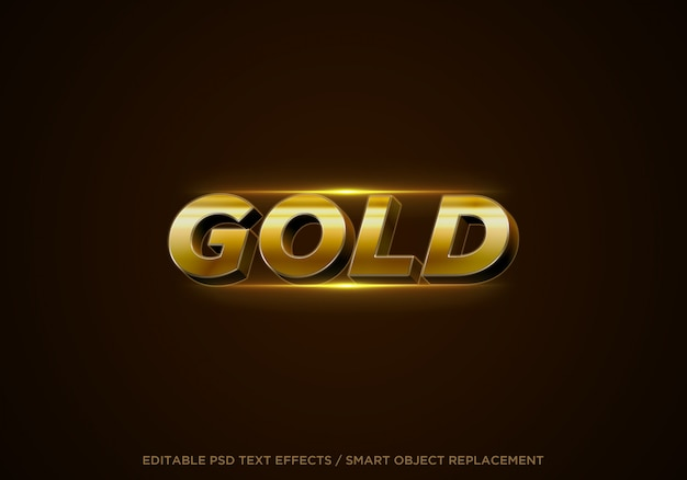 3d gold style editable text effect