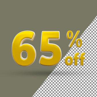 3d золотой текст номер 65 процентов от