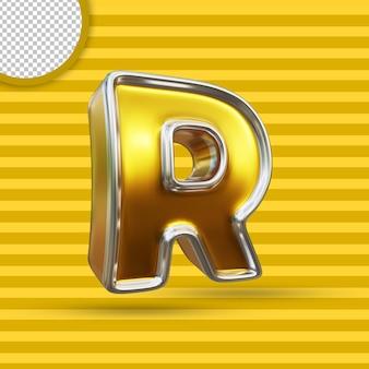 3차원, 황금, 알파벳, 디자인, 고립된